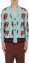 Gucci Men's Tiger-Pattern Wool Cardigan