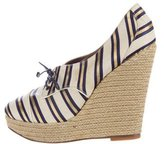 Tabitha Simmons Striped Canvas Wedges