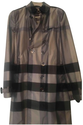 Burberry Grey Silk Trench Coat for Women