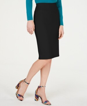 INC International Concepts Inc Solid Scuba Pencil Skirt, Created for Macy's