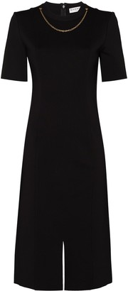 Givenchy Chain-Detail Slit Midi Dress