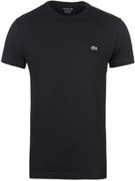 Lacoste Black Crew Neck Pima Cotton T-shirt