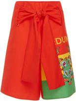 Edun Ghana Flag Wrap Shorts