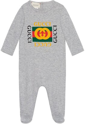 Gucci Kids Baby sleepsuit with logo