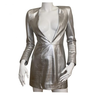 Jitrois Silver Leather Dresses