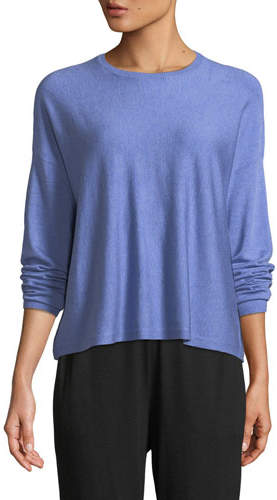 Eileen Fisher Lightweight Cozy Box Top, Plus Size