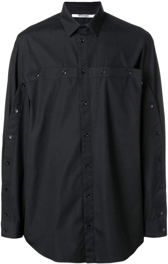 Chalayan oversized multi-buttoned shirt