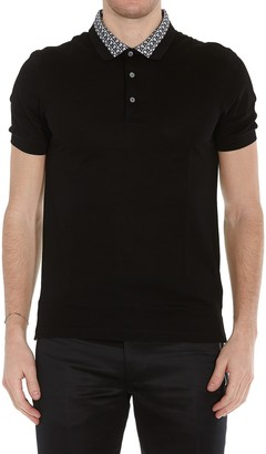 Salvatore Ferragamo Contrast Collar Polo Shirt