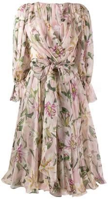 Dolce & Gabbana Lilium-print midi dress