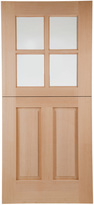 Rejuvenation Hyde Prehung Exterior Dutch Door