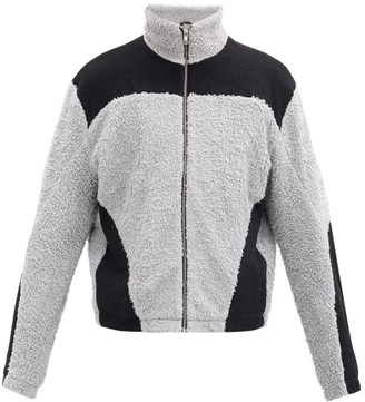 GmbH Colour-block Cotton And Wool Fleece Jacket - Black Grey