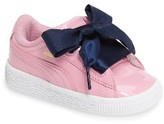 Puma Toddler Girl's Basket Heart Sneaker