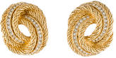 Christian Dior Crystal Knot Clip-On Earrings