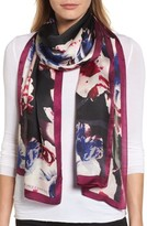 Vince Camuto Women's Photorealistic Floral Silk Scarf