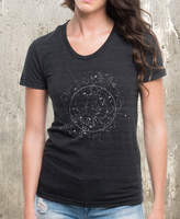 Etsy Celestial Map Women's Shirt - American Apparel Tri-Blend Shirt