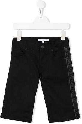 Givenchy Kids logo slim-fit shorts