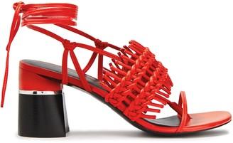 3.1 Phillip Lim Drum Woven Leather Sandals