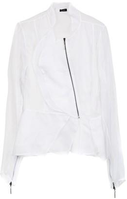 Tufi Duek sheer asymmetrical jacket