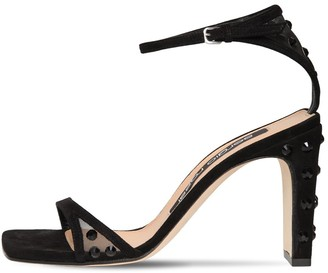 Sergio Rossi 85MM SUEDE & MESH SANDALS