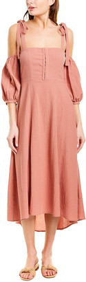 Capulet Esther Linen-Blend Midi Dress