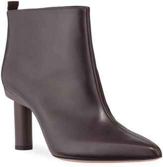 Tibi Theo Calfskin Pointed-Toe Ankle Booties