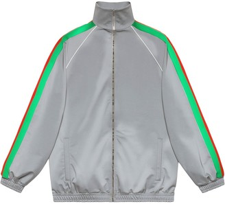 Gucci reflective side stripe track jacket