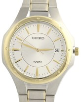 Seiko SGEF62 Stainless Steel Gold Tone 38.8mm Mens Watch