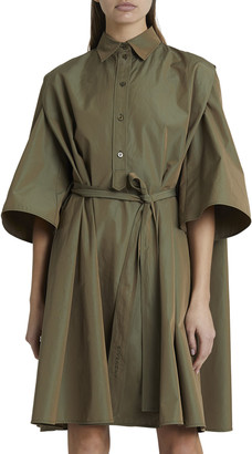 Givenchy Cape-Back Cotton Shift Dress