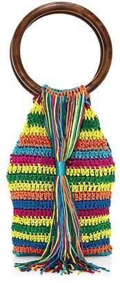 All Things Mochi Rainbow Kai Woven Top Handle Bag