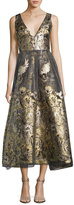 Marchesa Sleeveless Tea Dress