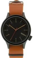Komono Black Cognac Magnus Watch