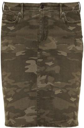 NYDJ Camouflage Five-Pocket Denim Skirt