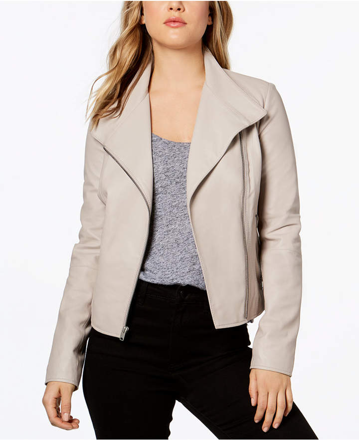 Andrew Marc Felix Asymmetrical Leather Moto Jacket