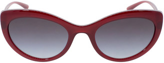 Dolce & Gabbana Bordeaux Slim Cat Eye Sunglasses