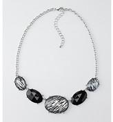 "Studio Works® 18"" Black Beaded Station Necklace"