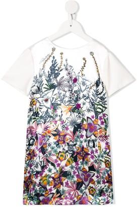 Roberto Cavalli Junior flower print short sleeve dress