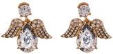 Betsey Johnson Embellished Angel Stud Earrings