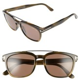 Tom Ford Women's 54Mm Double Brow Bar Sunglasses - Black/ Rose Gold/ Smoke