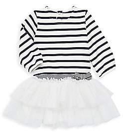 Petit Bateau Baby Girl's Stripe & Sparkle Dress