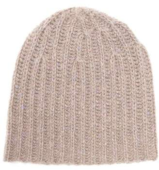Gabriela Hearst Donegal Rib Knitted Cashmere Beanie Hat - Womens - Camel