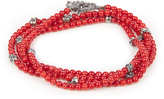 M. Cohen Glass-bead and silver bracelet
