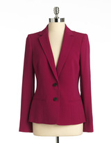 Anne Klein Plus-Size Two-Button Blazer