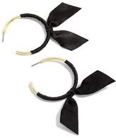 J.Crew Women's Ribbon Wrapped Hoop Earrings
