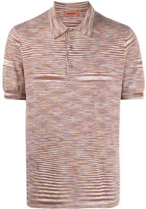 Missoni Striped Pattern Cotton Polo