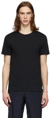 Paul Smith Black Contrast Stitch T-Shirt