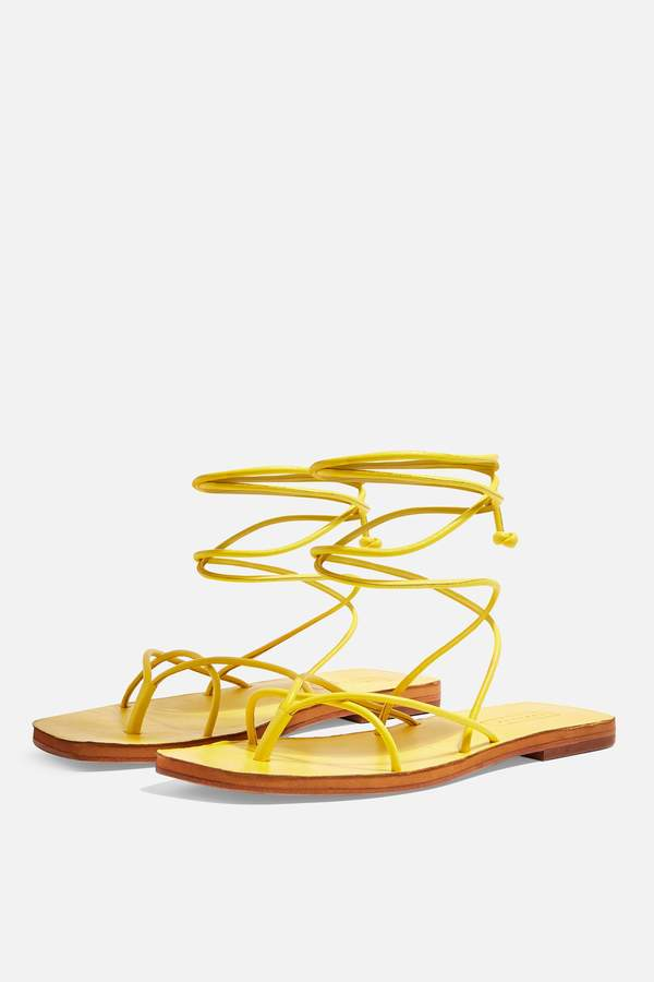 Yellow Wrap Forest Yellow Forest Wrap Forest Sandals Sandals UqzSpMV