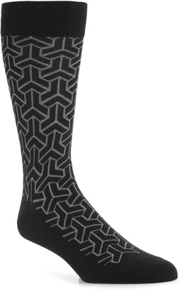 Nordstrom Ultrasoft Geometric Dress Socks