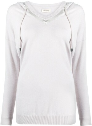 Gentry Portofino Slouch-Fit Hooded Jumper
