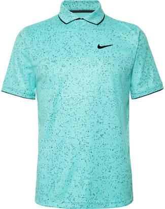 Nike Tennis Nikecourt Contrast-Tipped Printed Dri-Fit Tennis Polo Shirt