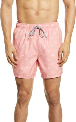 Ted Baker Lobster Print Swim Trunks